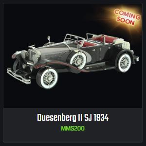 Coming Soon: Duesenberg II SJ 1934