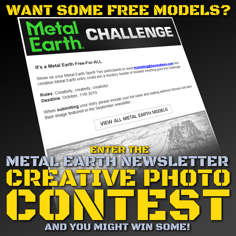 Metal Earth Newsletter Contest