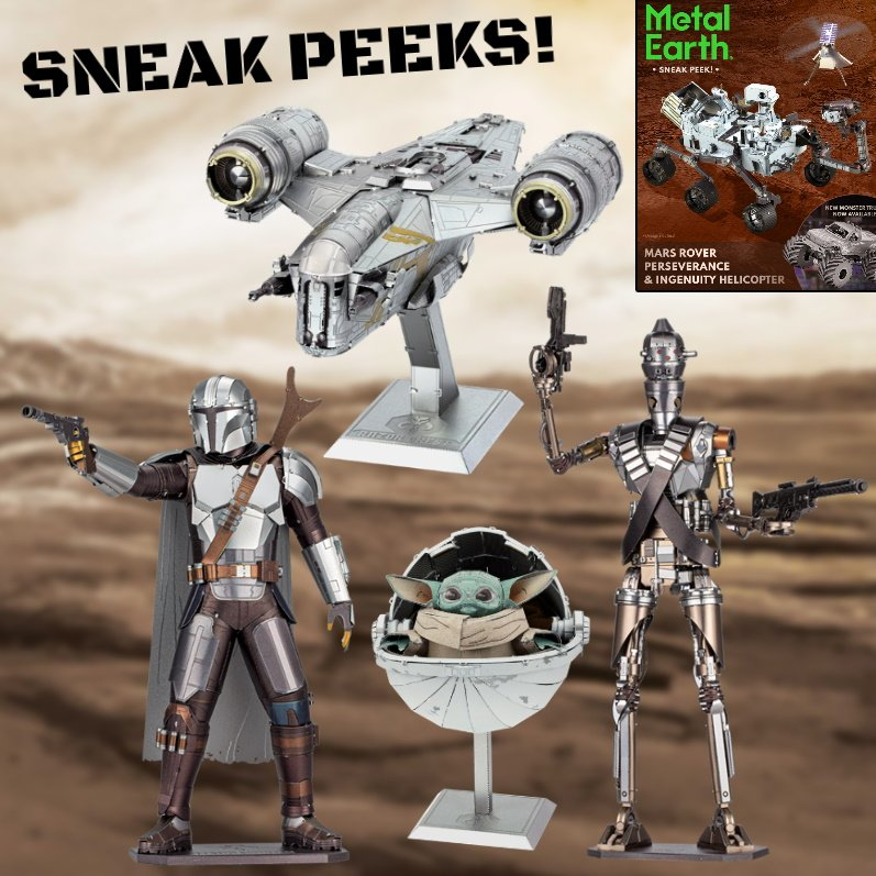 Sneak Peeks at Mandalorian and Mars Models